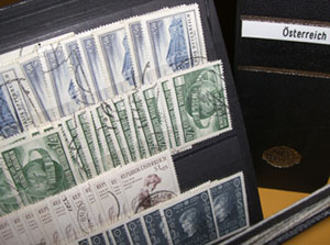 trading stock, Austrian stamps